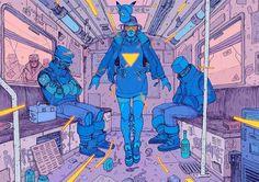 Cyberpunk Illustrations of a Dystopian Future, http://photovide.com/cyberpunk-illustrations/  Check more at http://photovide.com/cyberpunk-illustrations/