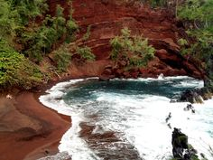 Red sand beach Maui,Hawaii (the Road to Hana)