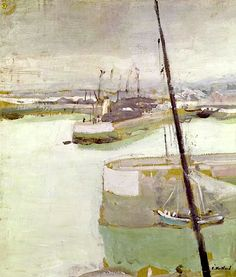 The Port of Honfleur, 1919 (oil on canvas) / Edouard Vuillard