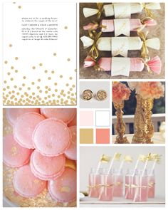 Glittery PInk and Gold Bridal Shower by papersnaps.com