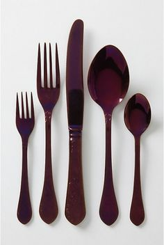If I were a goth-chic vampire who enjoyed dinner parties, this would be my flatware.