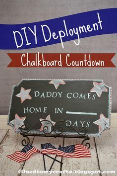 DIY Deployment Chalkboard Countdown ~ Instructions by Glued to My Crafts #DIY #military www.operationwearehere.com/craftssewingetc.html