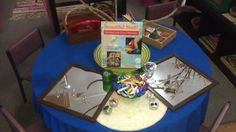 """'Beautiful stuff' experience - children reuse items by engaging in creative placement at Annie Dennis Children's Centre... image shared by EEEC- Environmental Education in Early Childhood ("""",)"""