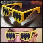 Why hello there, Gotham. I didn't see you standing there... #perlerart #perlerbeads #perlerbeadart #batman #gotham #gothamcity #perlerglasses #batmanglasses #customdesign #pr1me_e1gh7 #yellow #black #sometimesveryverydarkgrey #cool #awesome