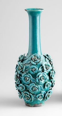 Aqua Rose Vase - Large. So ugly it's almost cute.