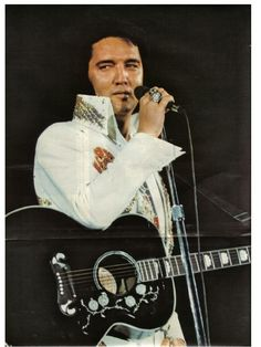 """Elvis in concert 1974; just glanced over at me before singing """"It's Now or Never""""."""