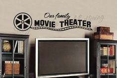 $25.99 Our family movie vinyl wall lettering words sticky art home decor quotes stickers decals by Sticky Words Vinyl Lettering, http://www.amazon.com/dp/B0046XDD4M/ref=cm_sw_r_pi_dp_8dUfrb02RDGMT