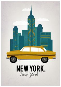 I enjoyed this pin because it represented what I think graphic design is. Which is making a logo or promotion with In Design or Photoshop, which is what the artist probably used. This pin helped me understand how you can have many simples shapes to create one big, unique, and iconic skyline. Like in this case, New York City and the iconic cab. (Artist: Booking.com)