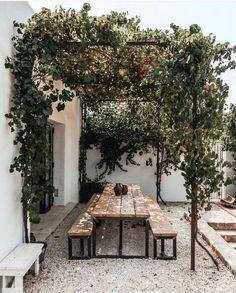 Exterior Design, Interior And Exterior, Patio Design, Interior Garden, Pergola Designs, Gazebos, Outdoor Spaces, Outdoor Decor, Outdoor Dining Rooms