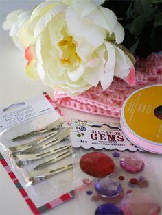 Cute flower hair clip