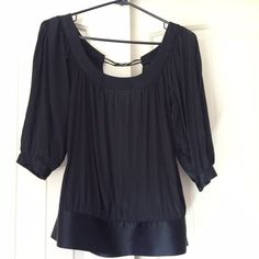 GUESS silk blouse Like nee condition. Silk blouse. Open back, great for summer. Guess Tops Blouses
