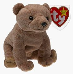 7287f418d8c Amazon.com  Ty Beanie Baby - PECAN THE BEAR Beanbag Plush  Toy   Toys    Games