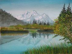 Zelenci - watercolor