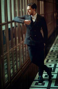Kit Harington for Esquire UK (February 2014) http://www.thefashionisto.com/kit-harington-cleans-esquire-uk/