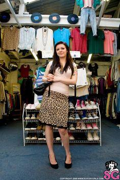 Koneko shows you how to shop at a vintage store... Kinda ;)  See more at http://suicidegirls.com/girls/Koneko/photos/Vintage+Dress+Up/