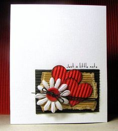 CAS102 Just a little note by Biggan - Cards and Paper Crafts at Splitcoaststampers