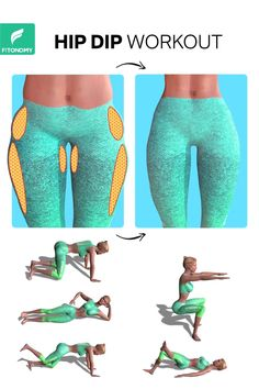 Hip dips refer to a harmless, cosmetic gap between the upper and lower hip. But, how to get rid of hip and dip? Well, give it a try to these five exercises and get strong toned hips and legs. # fitness workout for women HIP DIP WORKOUT Fitness Workouts, Gym Workout Videos, Fitness Workout For Women, At Home Workouts, Morning Ab Workouts, Daily Exercise Routines, Fitness Motivation, Fitness Quotes, Fitness Goals