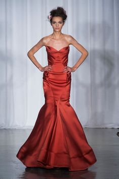 Zac Posen Spring-Summer 2014 Fashion Show at Fashion Week in New York Ny Fashion Week, Fashion Now, Red Fashion, New York Fashion, Runway Fashion, Oscar Fashion, Formal Fashion, Fashion 2014, Fashion Weeks