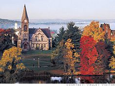 """Northampton, MA.  This spectacular display of color is what attracts """"leaf peepers"""" from far and near.  This is a view of Smith College."""