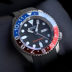 Seiko Mods - DLW Watch Modification Part - Ceramic bezel insert for Seiko Seiko Skx007 Mod, Seiko Mod, Seiko Watches, Black Boys, Pepsi, Smart Watch, Watches For Men, Ceramics, Crystals