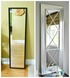 Convertir puerta en puerta espejo Decor : DIY: Upcycle a Door Mirror from Drab… Diy Projects To Try, Home Projects, Home Crafts, Carpentry Projects, Metal Projects, Weekend Projects, Diy Crafts, Sewing Projects, Cheap Home Decor