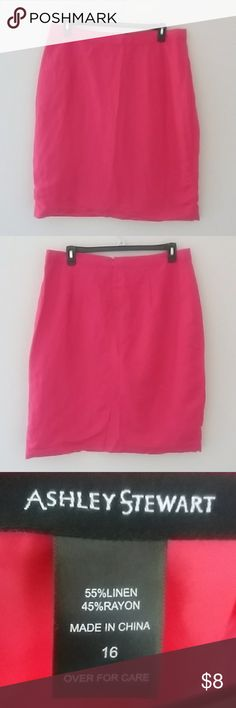 """Ashley Stewart Linen Skirt Waist 20"""" across, Length 27.5"""" Ashley Stewart Skirts Pencil"""