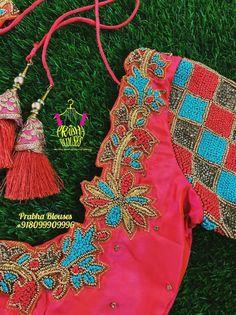 Bridal Blouse Designs, Saree Blouse Designs, Hand Embroidery, Embroidery Designs, Designer Blouse Patterns, Blouse Models, Blouse Neck, Hand Designs, Embroidered Blouse