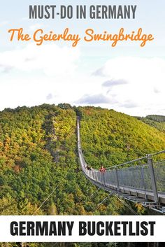 Must-do when in Germany: the Geierlay Swingbridge. Free entrance and a stunning panorama from high above. Read my blog and find out more!