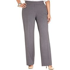 jm collection women curvyfit straightleg pants plus size 18w db grey >>> Find out more about the great product at the image link.