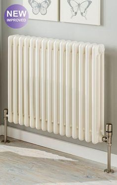 The Radiator Company Ancona 2 Column Radiator with Wall Brackets in White Cast Iron Radiators - Period Radiators, Traditional Radiators, Designer Radiators, Contemporary Radiators, Modern Radiators UK