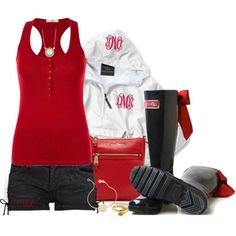 """Rockfish Rain Boots!"" by tmlstyle on Polyvore Adore these! Must have! Can you say IU??"
