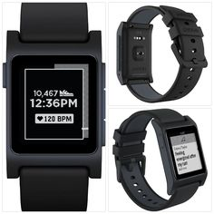 Smart Watch Pebble 2 Heart Rate Sleep Tracker Sport Watches Gift For Him Black  #smartwatch
