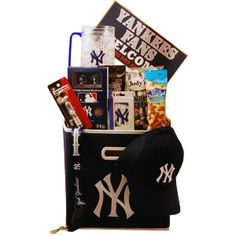 You are sure to score a Home Run with our New York Yankees Deluxe Gift Basket. The prefect gift to send to that special New York Yankee fan - $149.99