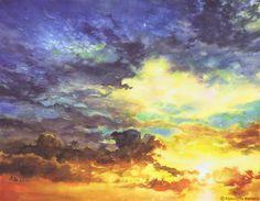 """Sky No. 3, Katazyna Kmiecik, Watercolor, 11.8""""x15.75"""""""