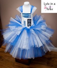 R2D2 Star Wars Robot Inspired Tutu Dress Droid by LuluInATutuUK