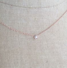 Real Natural Diamond Beaded Linear Heart Trio Pendant Necklace in 14k Gold Over Sterling Silver
