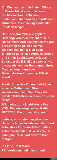 Ein Ehepaar beschließt dem Winter in Deutschland.. | DEBESTE.de, Lustige Bilder…