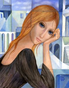 Time In Time Out Original Big Eyes Margaret Keane, Keane Big Eyes, Margret Keane, Sad Pictures, American Dad, Famous Artists, Eye Art, Disney Characters, Fictional Characters