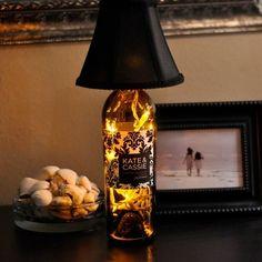 Wine bottle lamp!