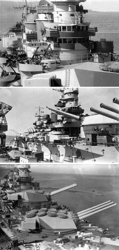 Italian Battleship Roma - Various details of her forward Conning Tower (usually a heavily armoured part of a battleship - as housed sighting/ranging gear for firing of primary armament)