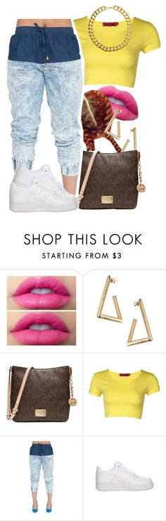 """""""Swangin'"""" by dajvuuloaf ❤ liked on Polyvore featuring Miss Selfridge, Michael Kors, Boohoo, NIKE and Gogo Philip"""