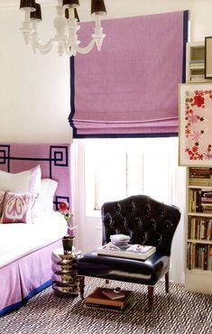 girls bedroom, purple/black