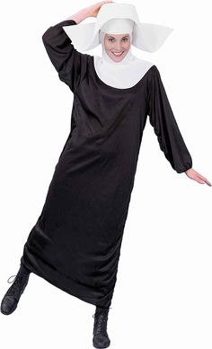 SMIFFYS Nun Set Headpiece Collar Cross Fancy Dress Costume Hen Party Accessories