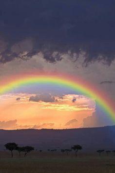 A rainbow in Kenya