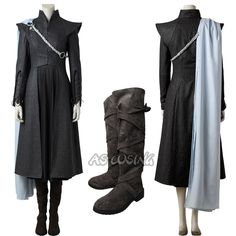 Game of Thrones Season 7 Daenerys Costume Targaryen Cosplay Costume Halloween Game Of Thrones Outfits, Game Of Thrones Dress, Game Of Thrones Costumes, Game Costumes, Game Of Thrones Clothing, Game Of Thrones Cosplay, Game Thrones, Diy Costumes, Halloween Costumes