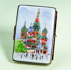 Limoges Postcard Box Red Square.