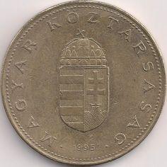 Wertseite: Münze-Europa-Mitteleuropa-Ungarn-Forint-100.00-1992-1998 Old Money, Coins, Personalized Items, Hungary, Money, Rooms