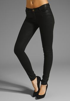 CURRENT/ELLIOTT The Legging in Coated Black at Revolve Clothing.