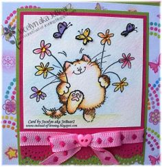Penny Black:  Frolic - birthday card for my daughter