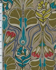 Poly Satin Charmeuse Art Nouveau Print Fabric By the Yard, Mushroom Designer Fabrics Warehouse http://www.amazon.com/dp/B00JJVSUFI/ref=cm_sw_r_pi_dp_bwF7vb11Q6X06